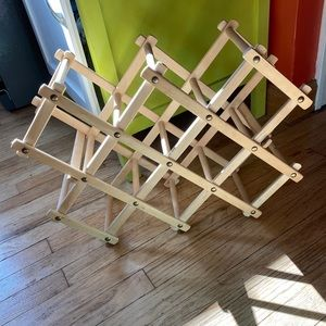 Boho Wooden Wine Rack